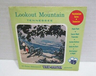 View-Master Packet A 876 Lookout Mountain Tennessee 1957 Vintage Viewmaster Set