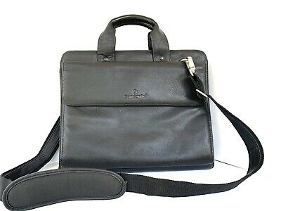 Samsonite Black Leather Expandable Briefcase Laptop Bag Portfolio