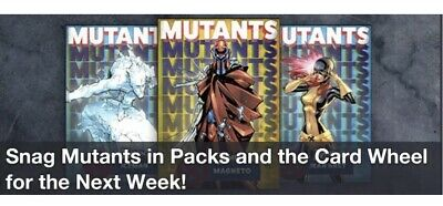 Topps Marvel Collect Card Trader Mutants Blue & Yellow Complete Set Award Ready