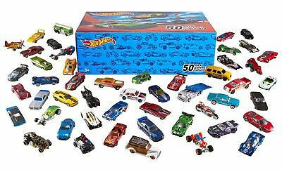 Hot Wheels 50 Die Cast Cars Box Set Individual Packs Birthday Party Favours NEW