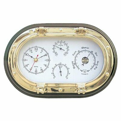 G4951: Nautical 4-way Multi Instrument in Oval Bull's Eye, Brass Polished