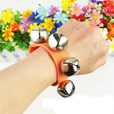 Infant Metal Band Wrist Foot Bell Multicolor Jingle Bells Musical Rhythm YU