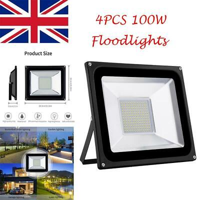 4pcs 220V SMD 100W Warm White LED Flood Light Outdoor Landscape Garden Spot Lamp