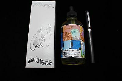Noodlers Ink 4.5 Oz Bottle Blue Ghost With Free Charlie Fountain Pen
