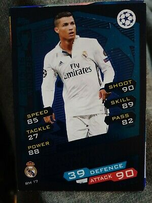 2016/17 Match Attax Champions League Real Madrid Cristiano Ronaldo Base  Rm17