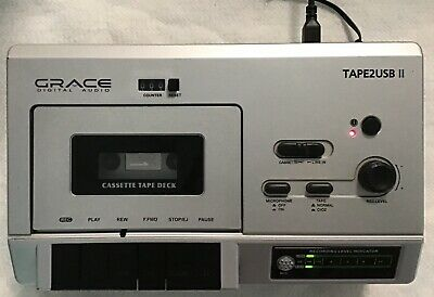 Grace Digital Audio Tape2USB II Cassette with USB and Adapter