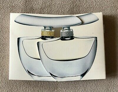 ESTEE LAUDER Double Perfume Carded Sample Vials Dazzling Gold Dazzling Silver