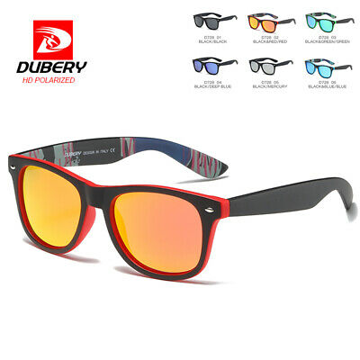 DUBERY Men Women Vintage Polarized Sunglasses Driving Eyewear Shades Eye Glasses