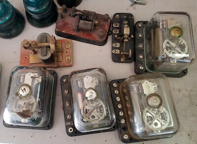 7 Vintage Western Electric 60bc Railroad Telephone Selectors