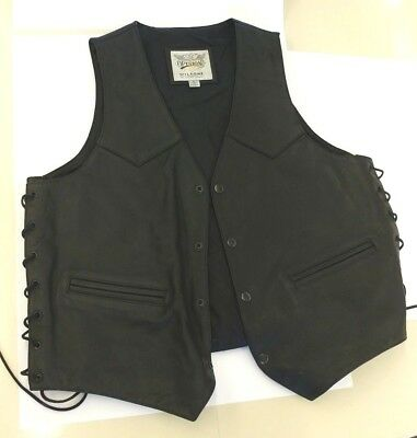 Wilson's Open Road Vintage Leather Eagle Vest, embossed, Large, very clean