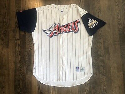 e457152c Vintage Russell Authentic ANAHEIM ANGELS Baseball Jersey Size 48 XL Disney  Trout