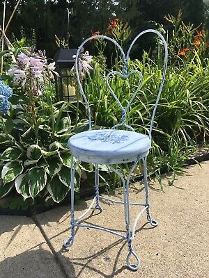 Hand Painted Vintage Child's Ice Cream Parlor Chair, Bistro Chair