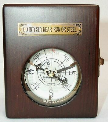 Classy Maritime Pocket Watches Compass, Dollond London, Compass in Wooden Box