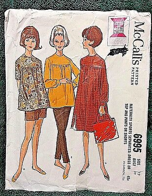 """UNUSED VINTAGE-1963 MATERNITY SEPARATES PATTERN ~ SIZE 12 by MCCALL""""S"""