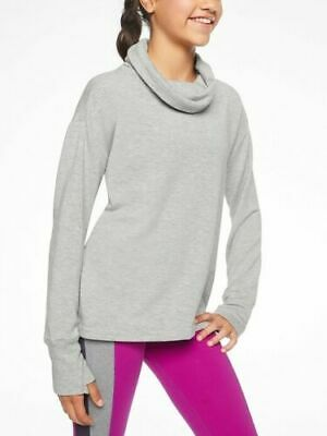 a748853e1 NEW WITH TAG Athleta Girl Kickin It Funnel Neck Hoodie Size XL / 14 ...