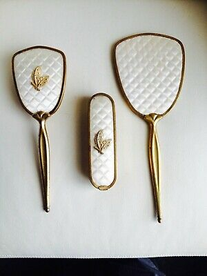 Vintage Vanity Hairbrush Mirror & Clothes Brush Set Dressing Table