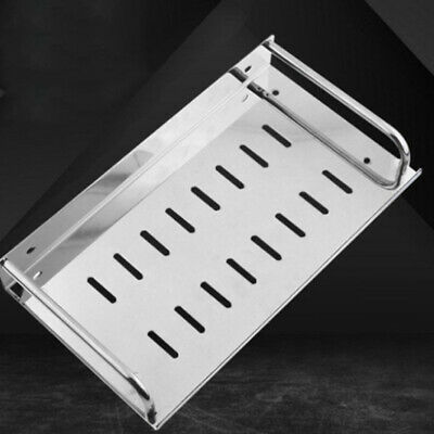 Home Stainless Steel Storage Shelf Wall-mounted Rack Holder for Kitchen Bathroom