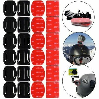 Portable 12pcs Helmet Flat Curved 3M Adhesive Pads Mount for Gopro Hero1 2 3 4 5