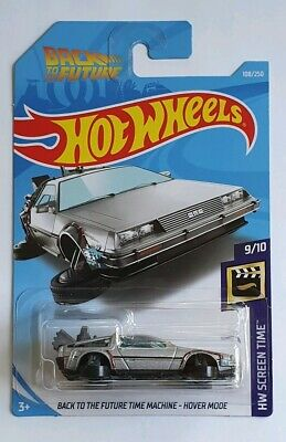 Hot Wheels Back To The Future Time Machine Hover Mode Delorean Long Card