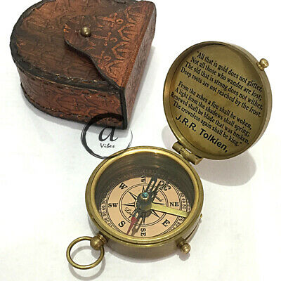 Halloween Antique Marine Direction Tool Boating/Hunting Compass Survival War GPS