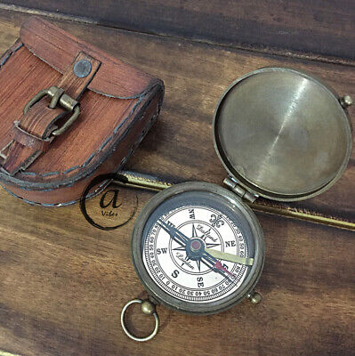 Halloween Marine Cops Navigation Compass GPS Manual Antiques Style Gift Astrolab