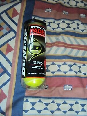Dunlop  Padel Balls  3 Ball Tube Pack  Maximum Touch & Feel  Yellow