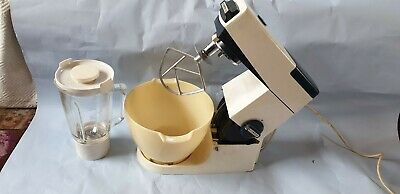 KENWOOD CHEF DE LUXE Vintage mixer with attachments and bowl. Working Well
