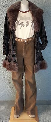 Corduroy Flares, chocolate brown by 'Blues Union', 1970's size 10