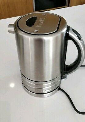 Dualit Architect Cordless Kettle Brushed Stainless Steel Black trim 1.5L 2.5kW