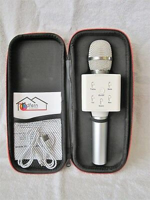Brand-New - Wireless Karaoke Microphone With Case - Silver - Smartphone - Gift!!