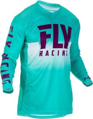 Fly Racing Lite Hydrogen LE Monster Cup Seafoam MX Motocross Race Jersey Adult