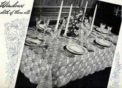 CROCHET Vintage PATTERNS Doily BED Table AFGHAN Popcorn Mats CATHEDRAL WINDOW