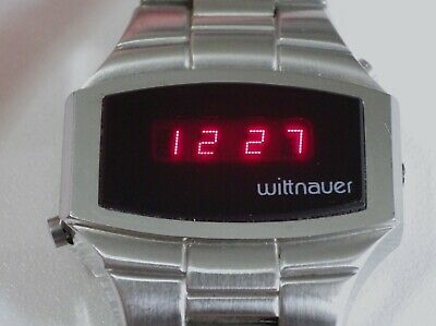 Wittnauer Lcd Led Digital Red, Vintage 1970, Longines, Rare,
