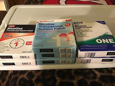 6 Packs Nicotine Transdermal System Patch 21 mg Step 1 (92 Patches) Expired 2019