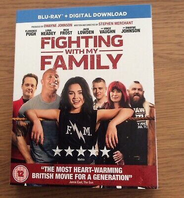 Fighting with my Family, starring Dwayne Johnson. Brand new & sealed Blu-Ray.
