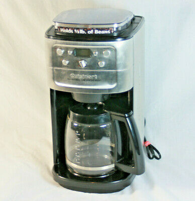 Cuisinart Burr Grind And Brew 12-Cup Automatic Coffee Maker Brushed Chrome