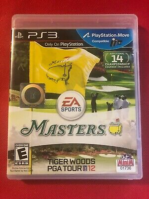 Tiger Woods PGA Tour 12: The Masters (Sony PlayStation 3, 2011) (CIB) (VG)