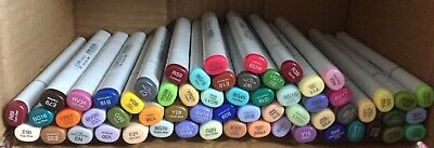 Lot Of 61 Copic .too Sketch Markers Double Ended Brand New NO DUPLICATES