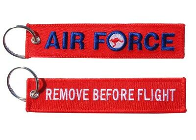 Air Force Remove Before Flight Key Ring