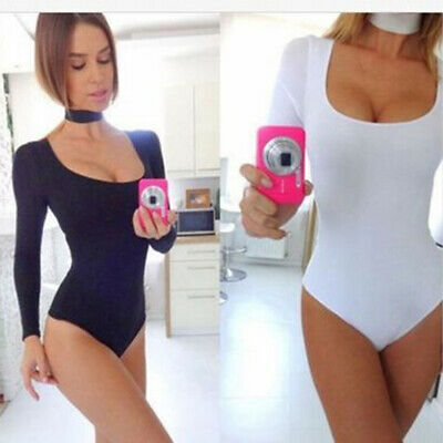 Fashion Women One-Piece Underwear Cotton Long Sleeve Slim Fit Tops With Chokers