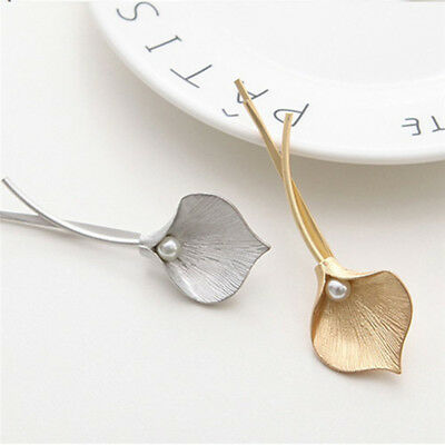 Wedding Bridal Bridesmaid Leaf Headpiece Hair Pins Clip Jewelry Gold Silver Tone