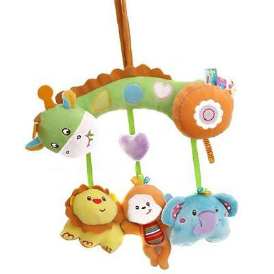 Infant Cute Rattles Soft Bed Stroller Hanging Bell Animal Plush Toy YU
