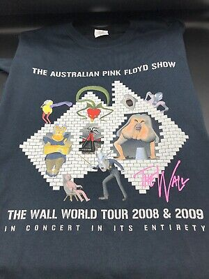 the australian pink floyd show t shirt the wall world tour '08-'09 Men's XL New!