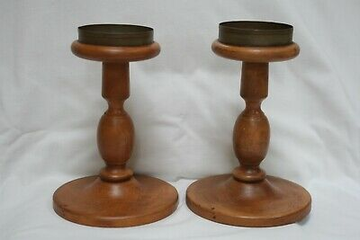 """2 Salem Collection Treenware Candlestick ( 3 1/4"""" candle size )"""