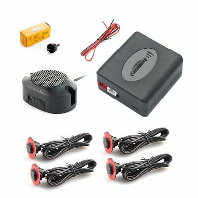 Car Parking Sensors 4 Adjustable 16.5mm Flat Sensors Reverse Backup Radar Sound