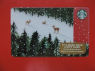 Starbucks Usa Mountain Deer 2017 Gift Card. No Value Collectors Item