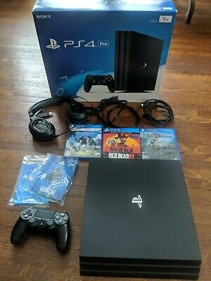 Sony PlayStation 4 Pro 1TB 4K Console 3 games & Turtle Beach headset