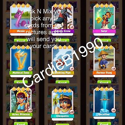 X5 Coin Master trading cards Mid Rare Bundle pick n mix excellent selection!