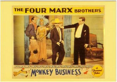 The Marx Brothers in Monkey Business Movie Postcard