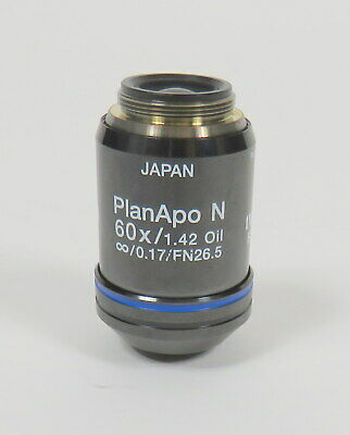 OLYMPUS PLANAPO N 60x / 1.42 Oil  / 0.17 FN26.5 UIS2 BFP1 MICROSCOPE OBJECTIVE